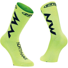 Northwave Extreme Air Fietssokken, yellow fluo/black